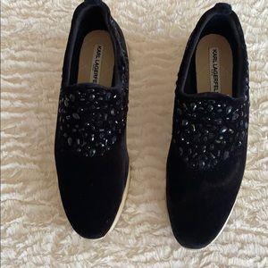 Black velvet Karl Lagerfeld shoes